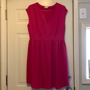 Maison Jules Pink Fit and Flare Dress